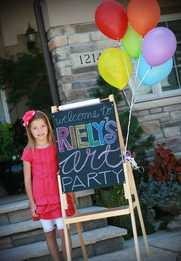 Riely S 8th Birthday An Art Party Gettin By