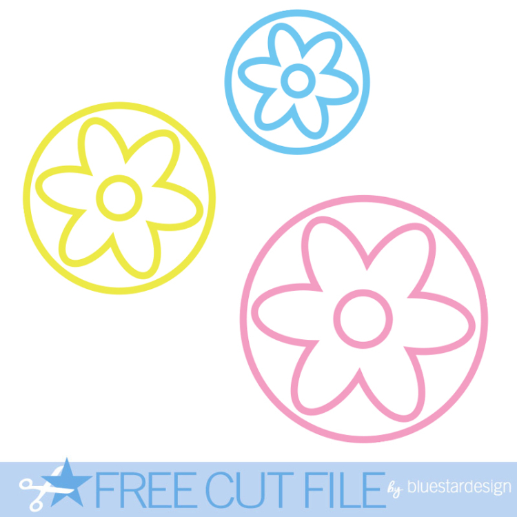Friday Freebie Flower Circles Cut File